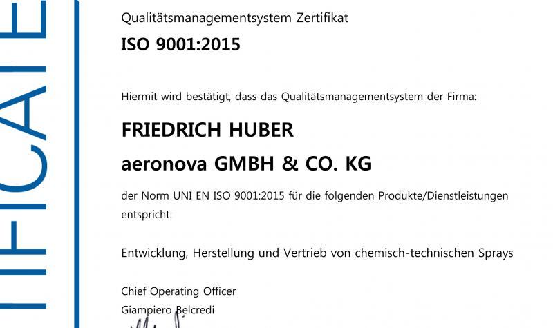 Frühjahr 2018: Erfolgreiche Re-Zertifizierung und Umstellung der ISO 9001 auf die Version 2015